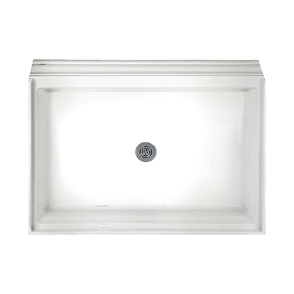34-1/8 Inch x 60-1/8 Inch Acrylic Single Threshold Shower Base in White