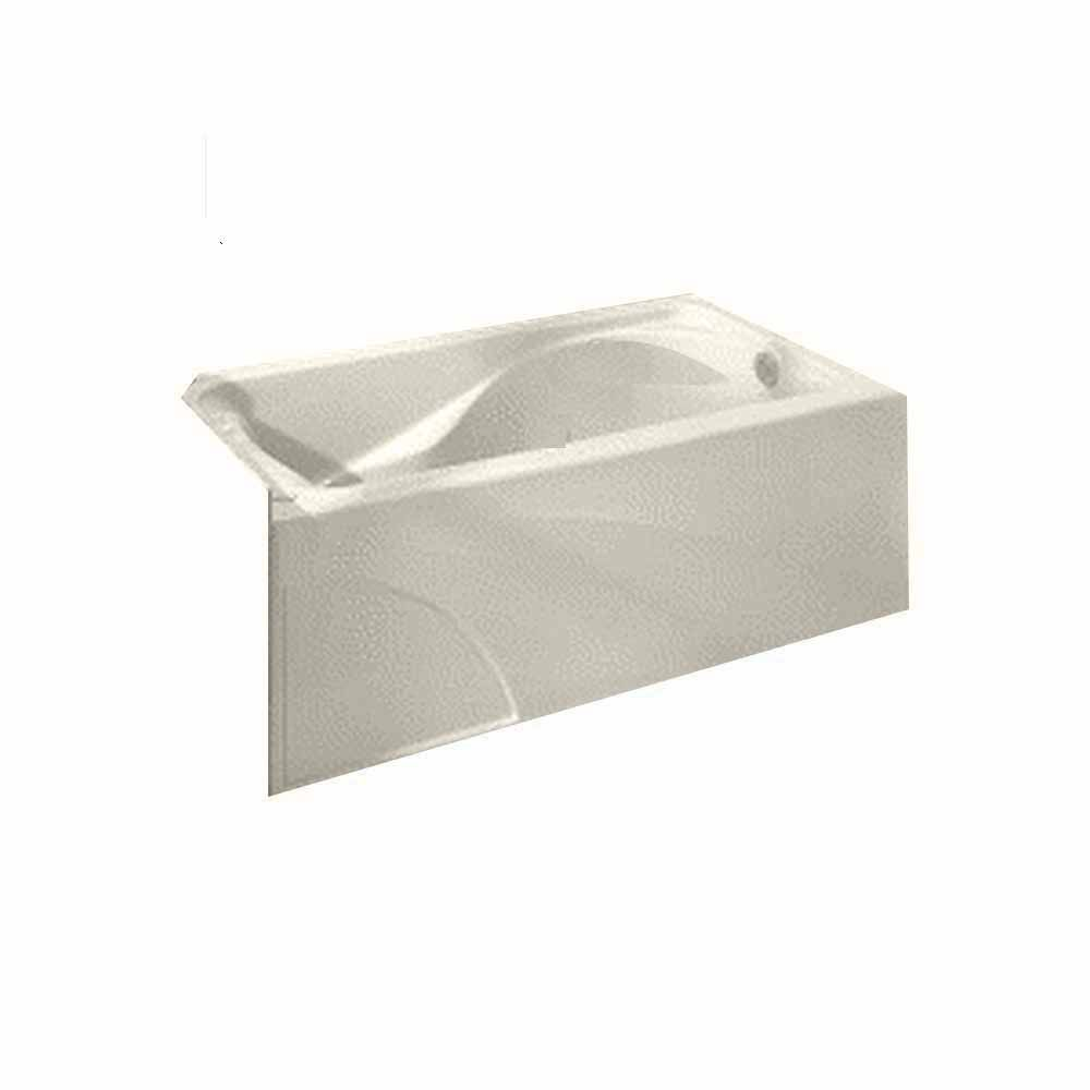 Cadet 5 Feet Bathtub with Left-Hand Drain and Integral Apron in Linen