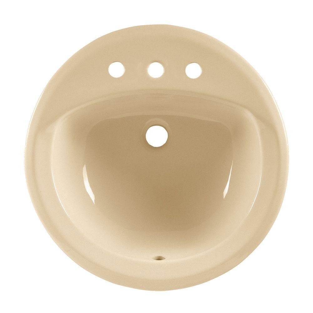 Lavabo sur comptoir à rebord intégré Rondalyn� avec centres de 8 po, rebords coniques élégants, d...