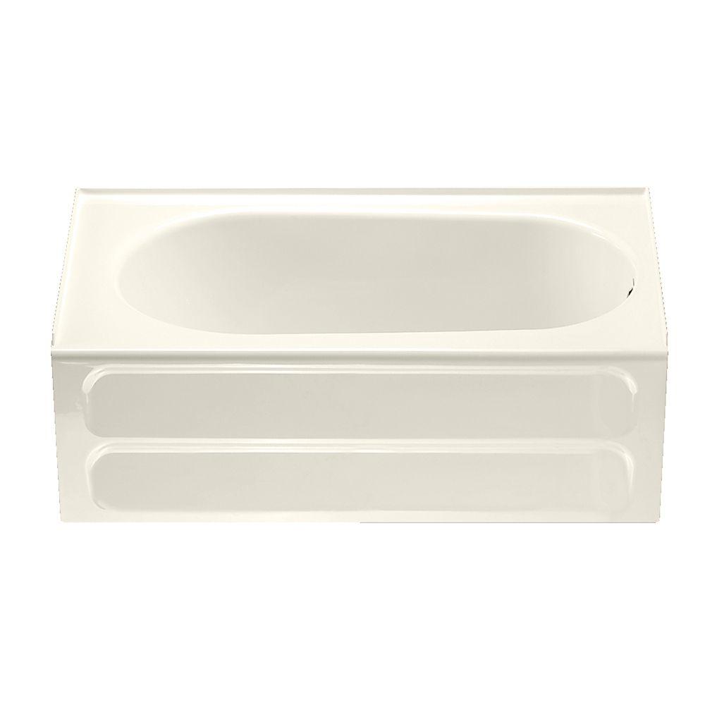 Standard Collection 5 feet Bathtub with Right-Hand Drain in Linen ...