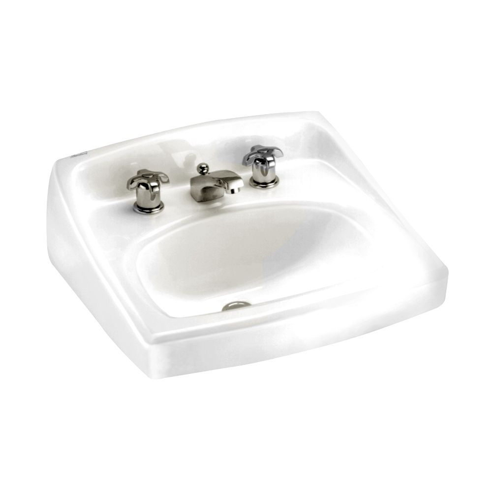 Lucerne Wall-Mount Bathroom Sink in White 0356.015.020 Canada Discount
