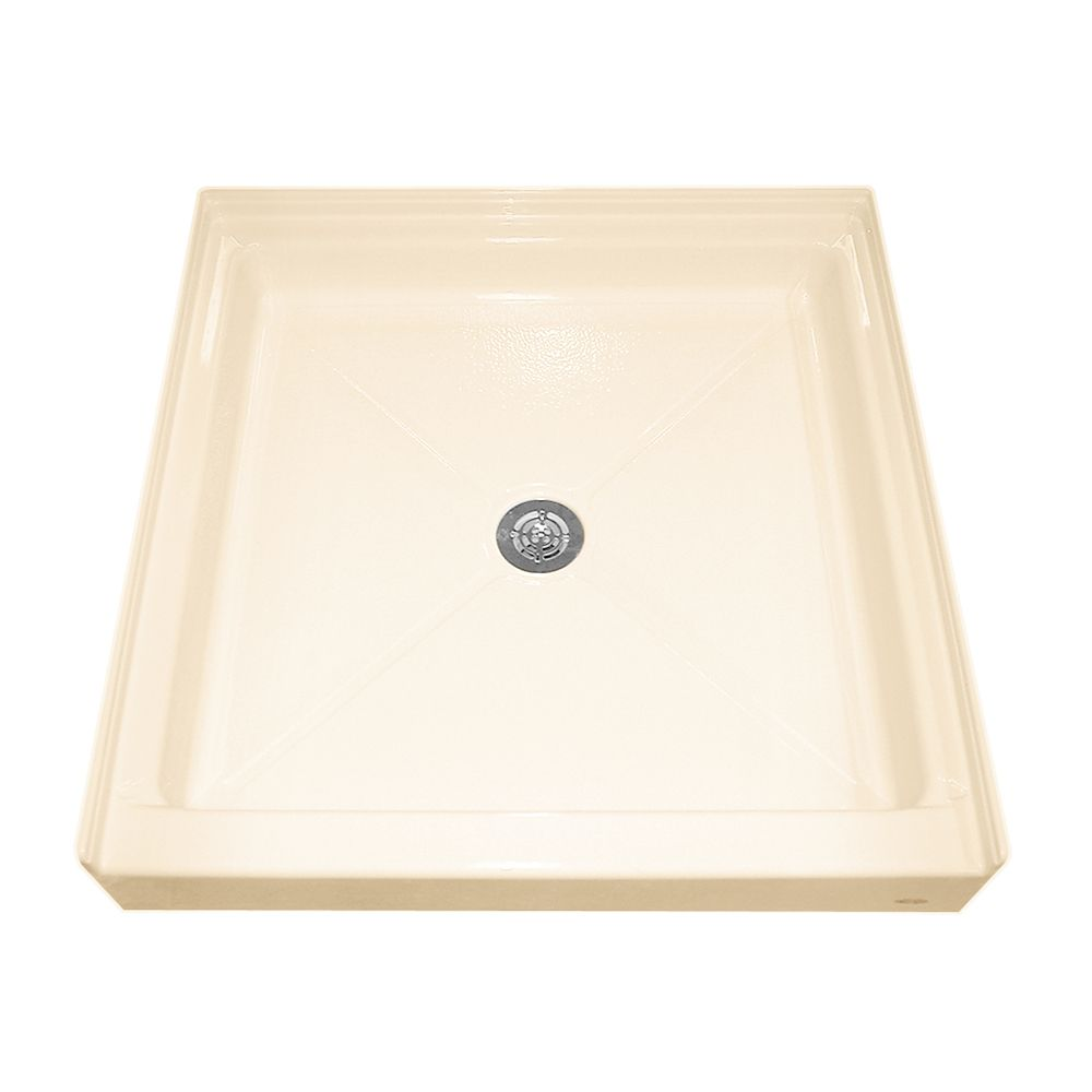 36-3/16 Inch x 36 Inch Single Threshold Shower Base in Bone 3636.ST.021 Canada Discount