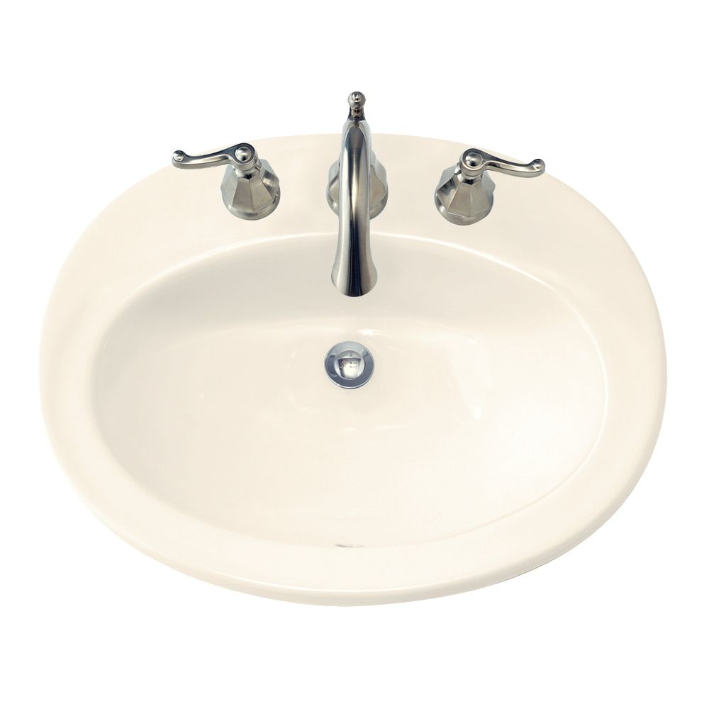 Piazza Self-Rimming Bathroom Sink in Linen