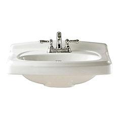 Portsmouth 10-inch Pedestal Sink Basin in White