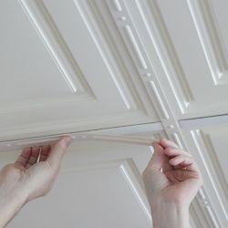 Ceilume Deco-Strips Sand, Self-Adhesive Decorative Strips, 24 Inch x 1 Inch