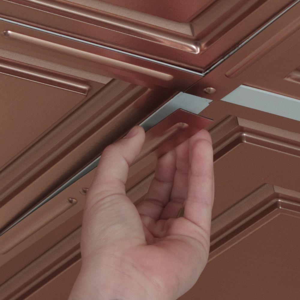 Deco-Strips Faux Copper, Self-Adhesive Decorative Strips, 24 Inch x 1 Inch