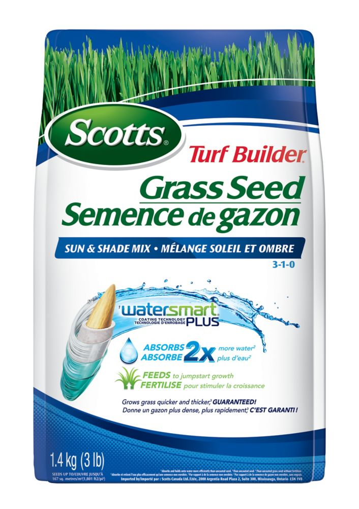 Turf Builder Coated Grass Seed Watersmart Sun & Shade - 1.4 Kg