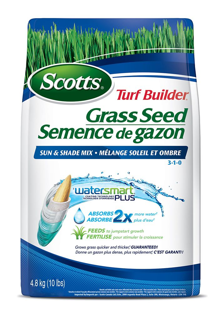 Turf Builder Coated Grass Seed Watersmart Sun And Shade - 4.8 Kg