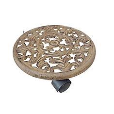 Socle à roulettes en fer forgé pour jardinière, 30 cm (12 po)