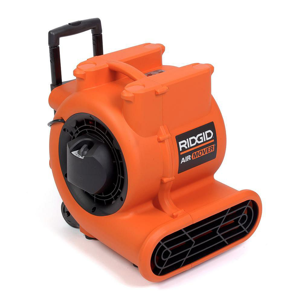 RIDGID Air Mover 1625 CFM Portable Floor Dryer & Blower Fan with Wheels & Retractable Handle