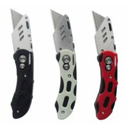 HUSKY Ensemble de 3 couteaux à lame rétractable