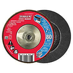 Steel Demon Flap Disc (80 Grit) 7 in.