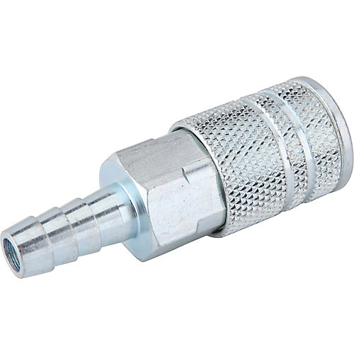 1/4 Inch x 1/4 Inch Industrial Barbed Coupler with Clamp