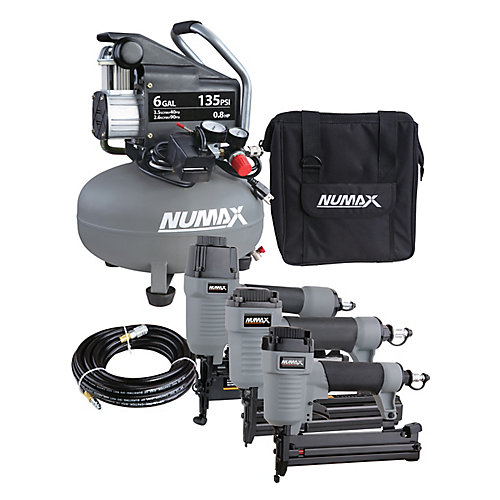 Compressor and Nailer Combo Kit