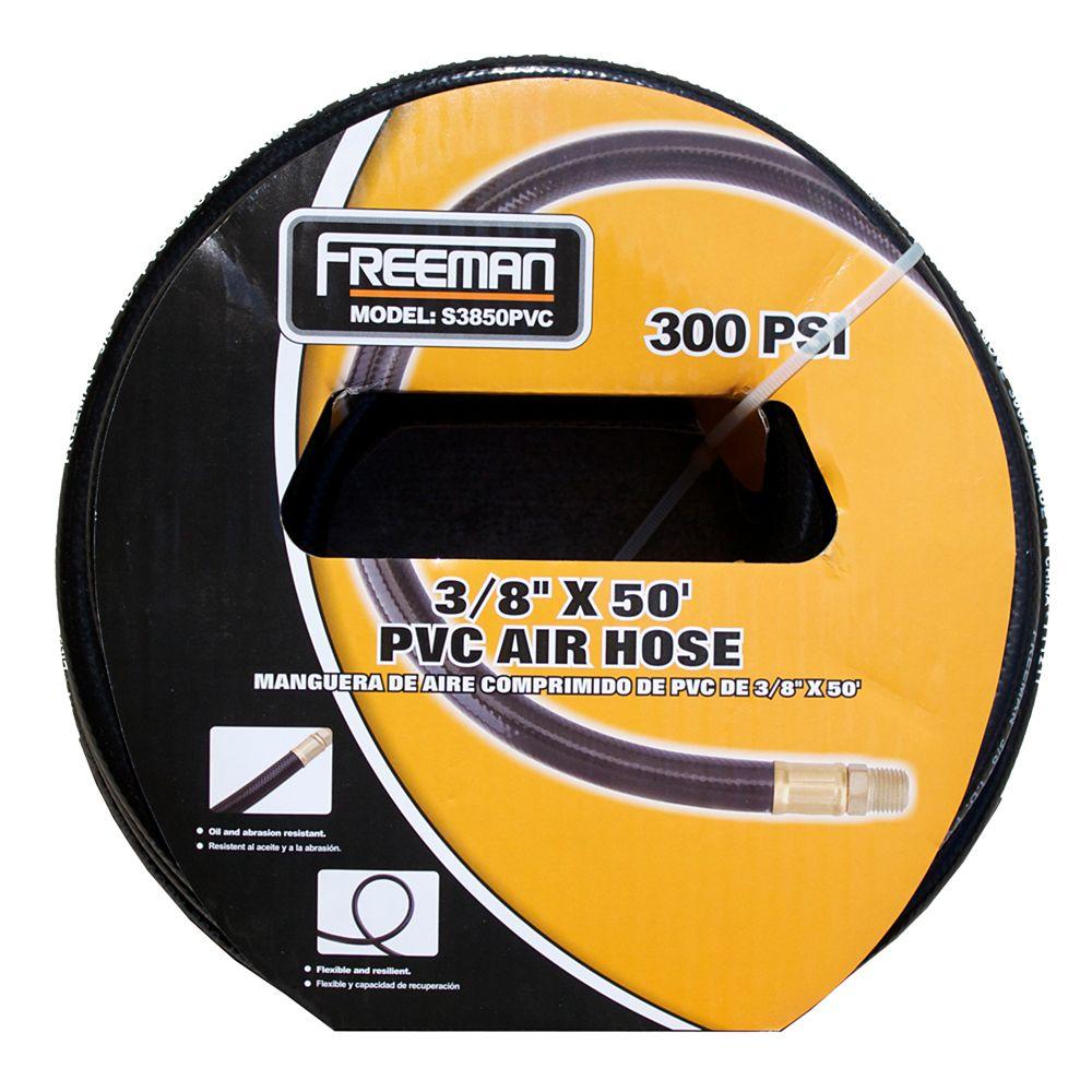 Freeman 3/8 Inch x 50 Feet PVC Air Hose