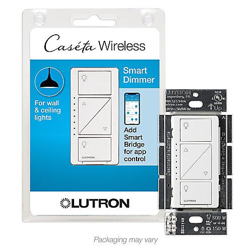 Caseta Wireless Smart Lighting Dimmer Switch for Wall & Ceiling Lights, White