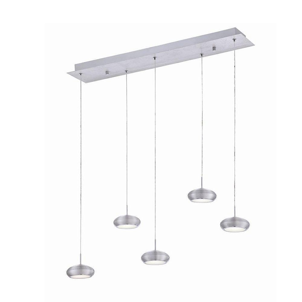 Venti Collection 5 Light Aluminum LED Linear Pendant