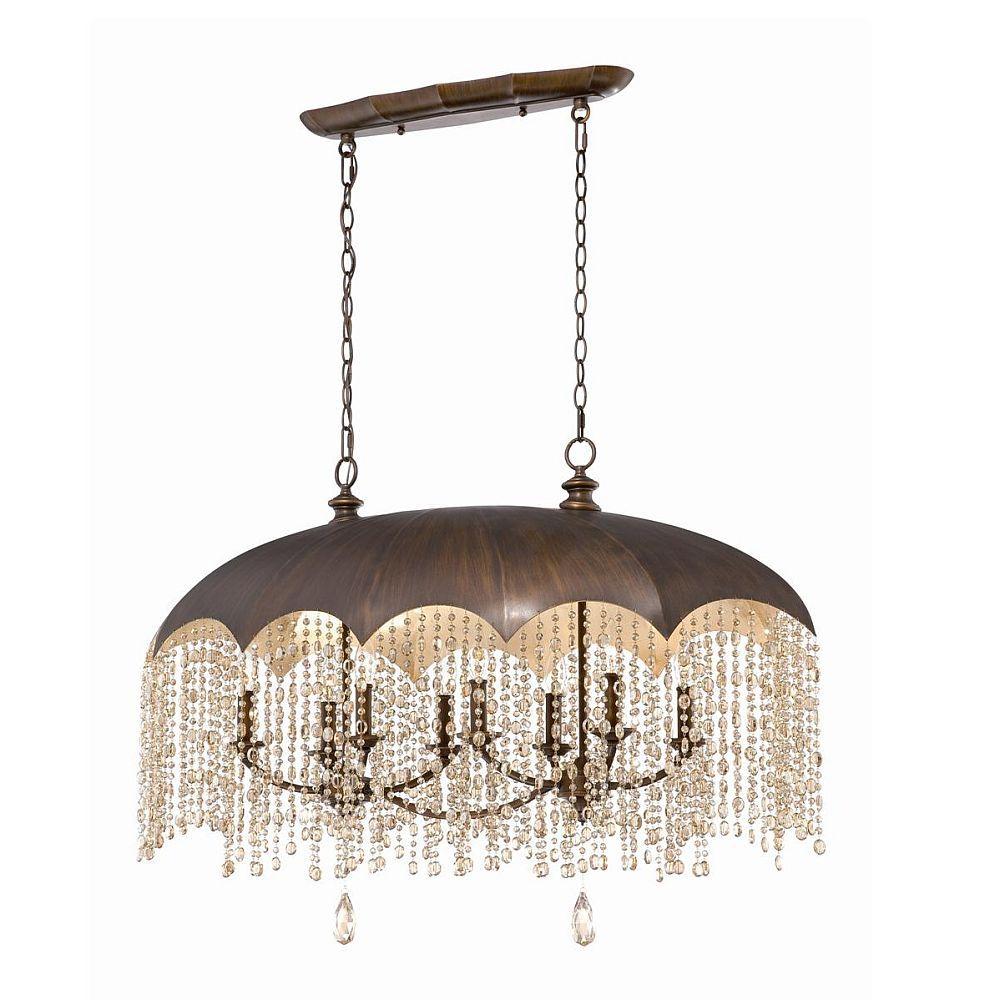 Luminaire Suspendue à 8 Lumières, Collection Ombrello