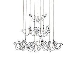 Eurofase Volare Collection 10 Light Chrome & Clear Pendant