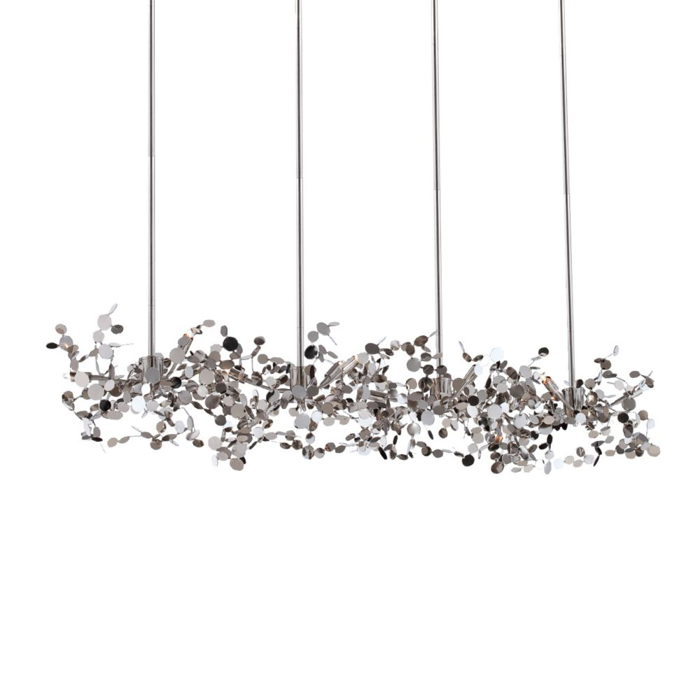 Divo Collection 12 Light Nickel Pendant