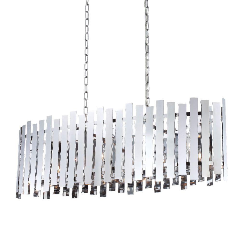 Luminaire Suspendue à 6 Lumières, Collection Nastro