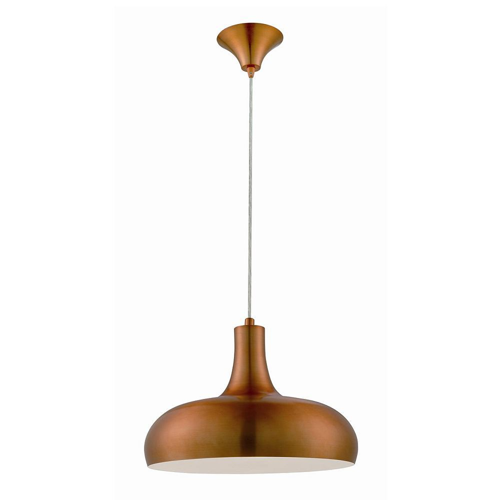 Una Collection 1 Light Antique Brass Pendant