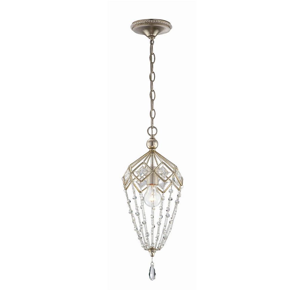 Collana Collection 1 Light Silver Leaf Mini Pendant