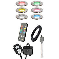 Ensemble de 6 lumières DEL à couleurs multiples