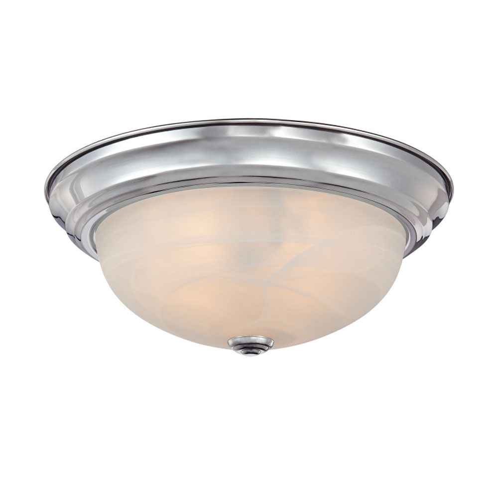 Monroe 1-Light Polished Chrome Flush Mount with an Opal Etched Shade