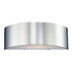 Eurofase Dervish Collection 1-Light Chrome Wall Sconce