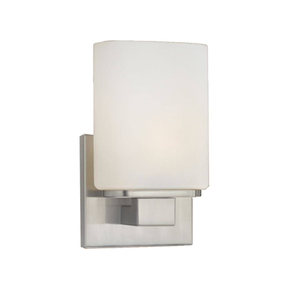 Dolante Collection 1-Light Satin Nickel Wall Sconce