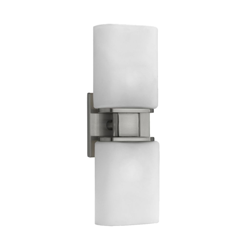 Dolante Collection 2-Light Satin Nickel Wall Sconce