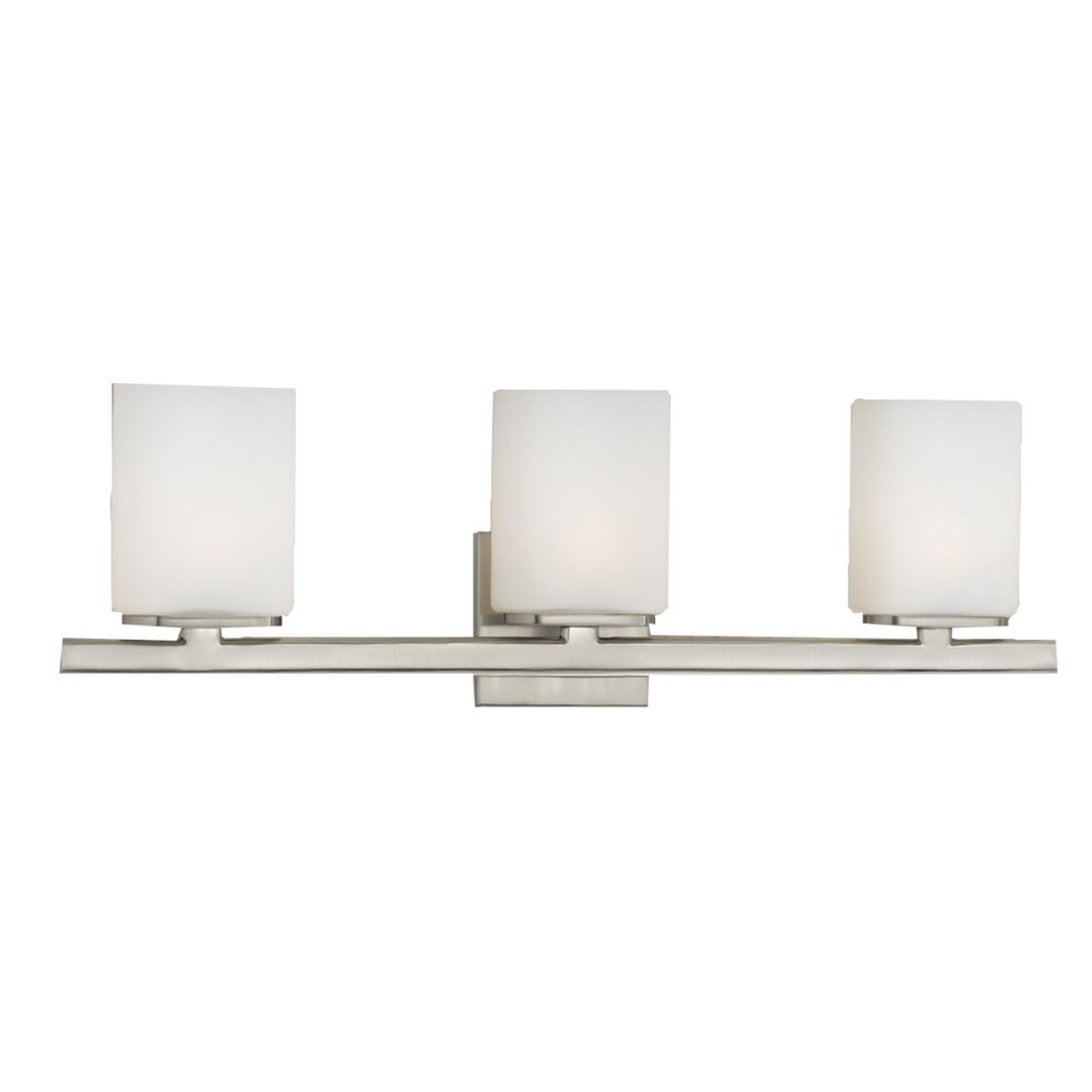 Eurofase Dolante Collection 3-Light Satin Nickel Bath Bar