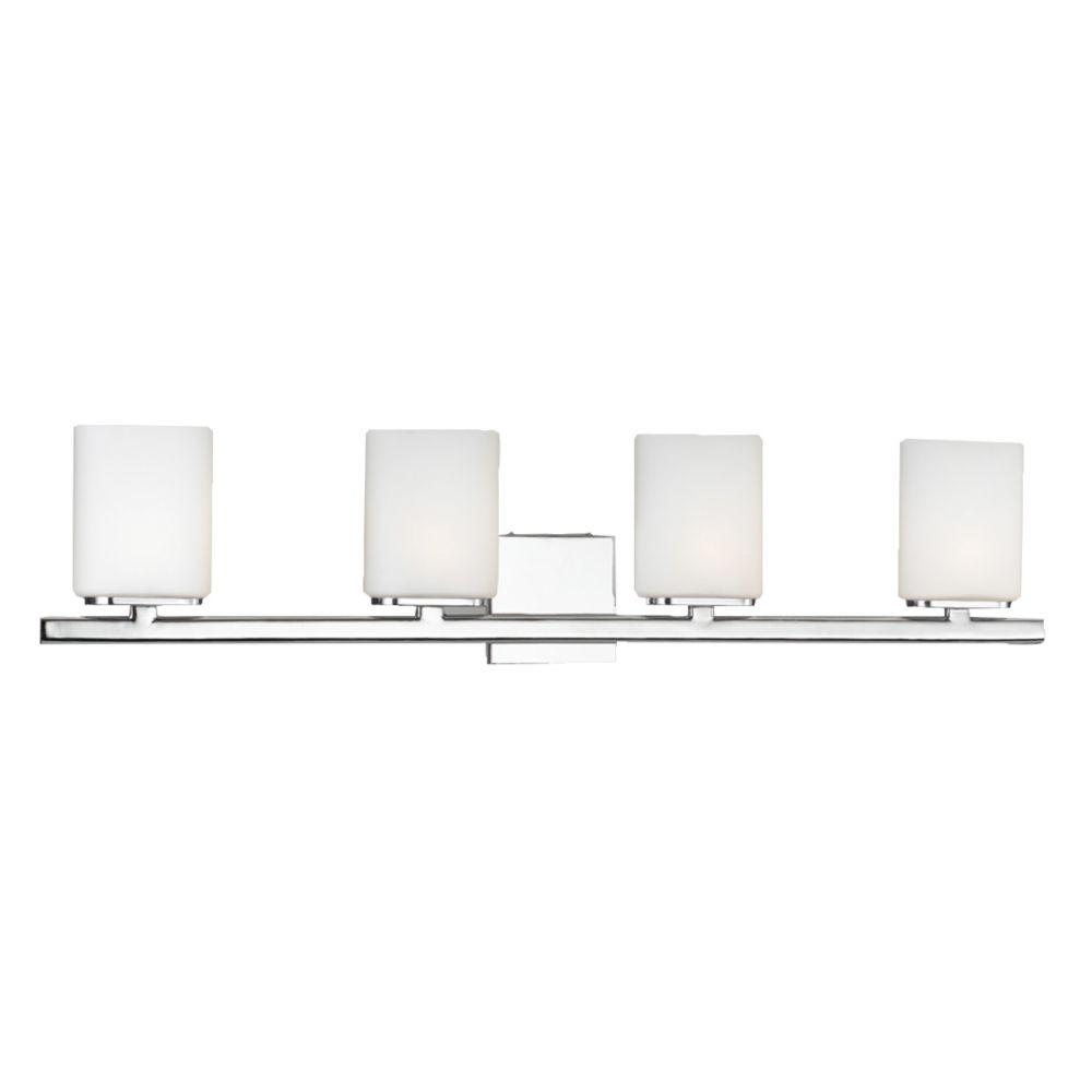 Dolante Collection 4-Light Chrome Wall Bath Bar