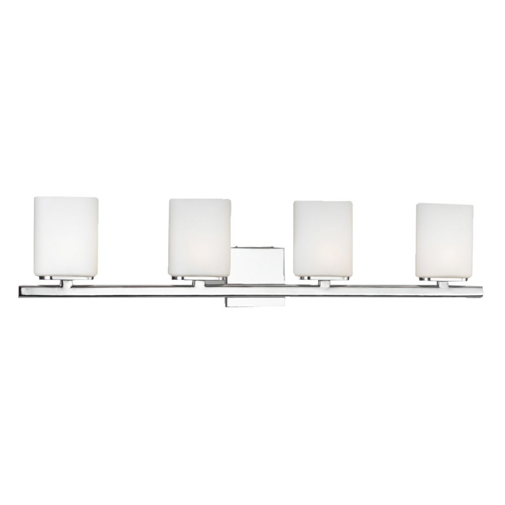 Eurofase Dolante Collection 4-Light Chrome Wall Bath Bar