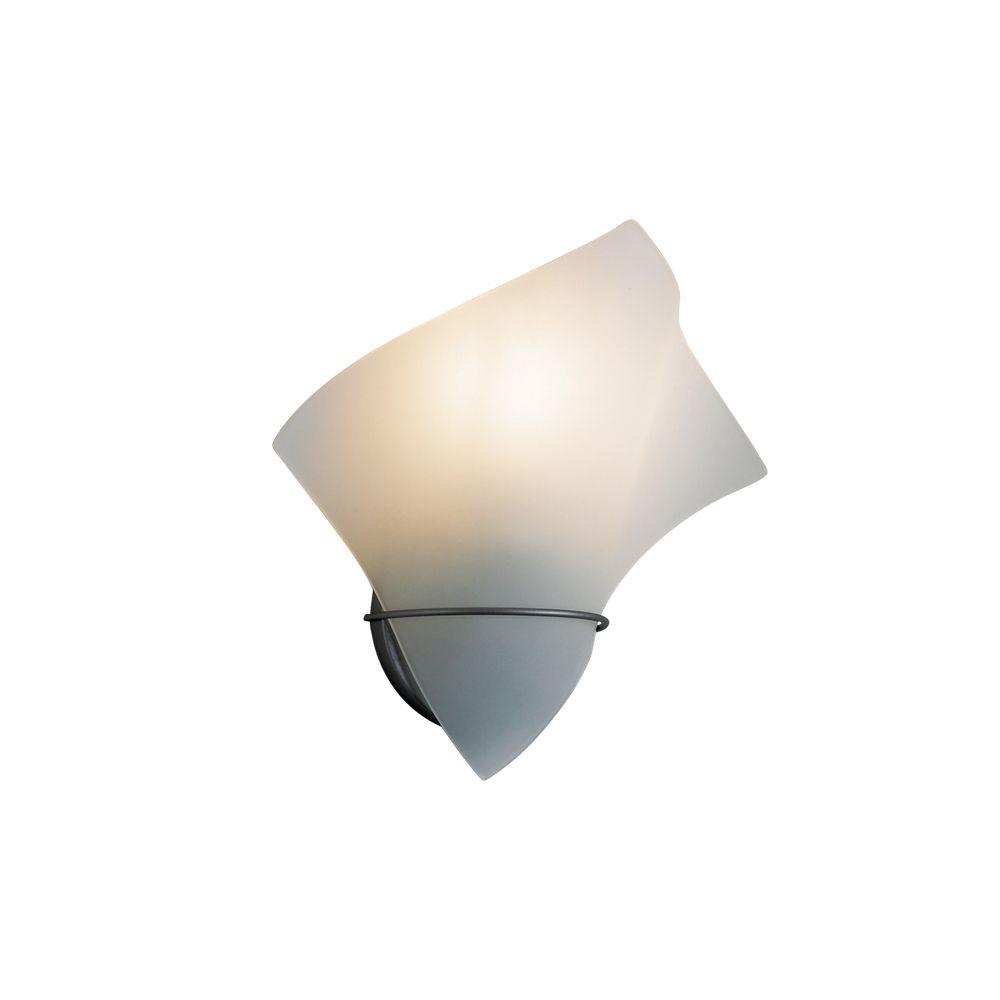 Eurofase Flair Collection 1-Light Platinum Wall Sconce