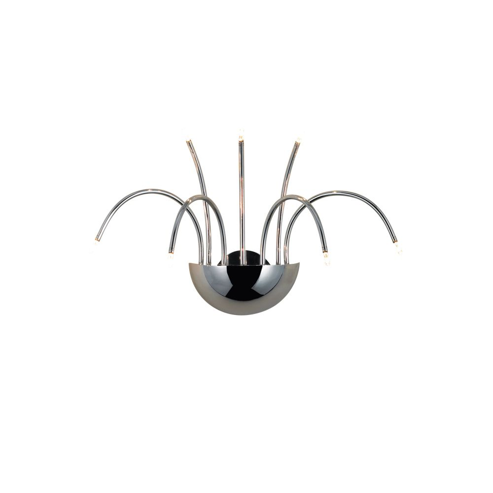 Kasper Collection 7-Light Chrome Wall Sconce 14758-010 Canada Discount