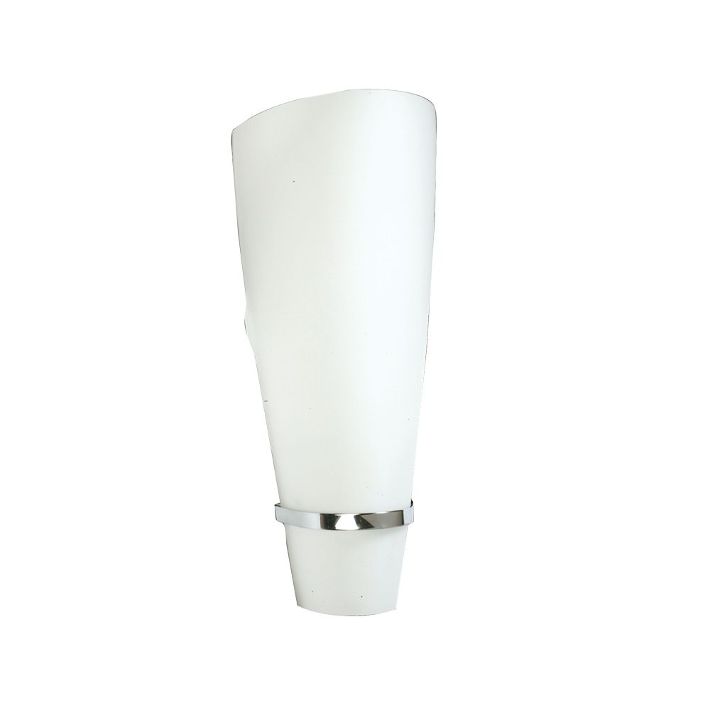 Malta Collection 1-Light Chrome Wall Sconce