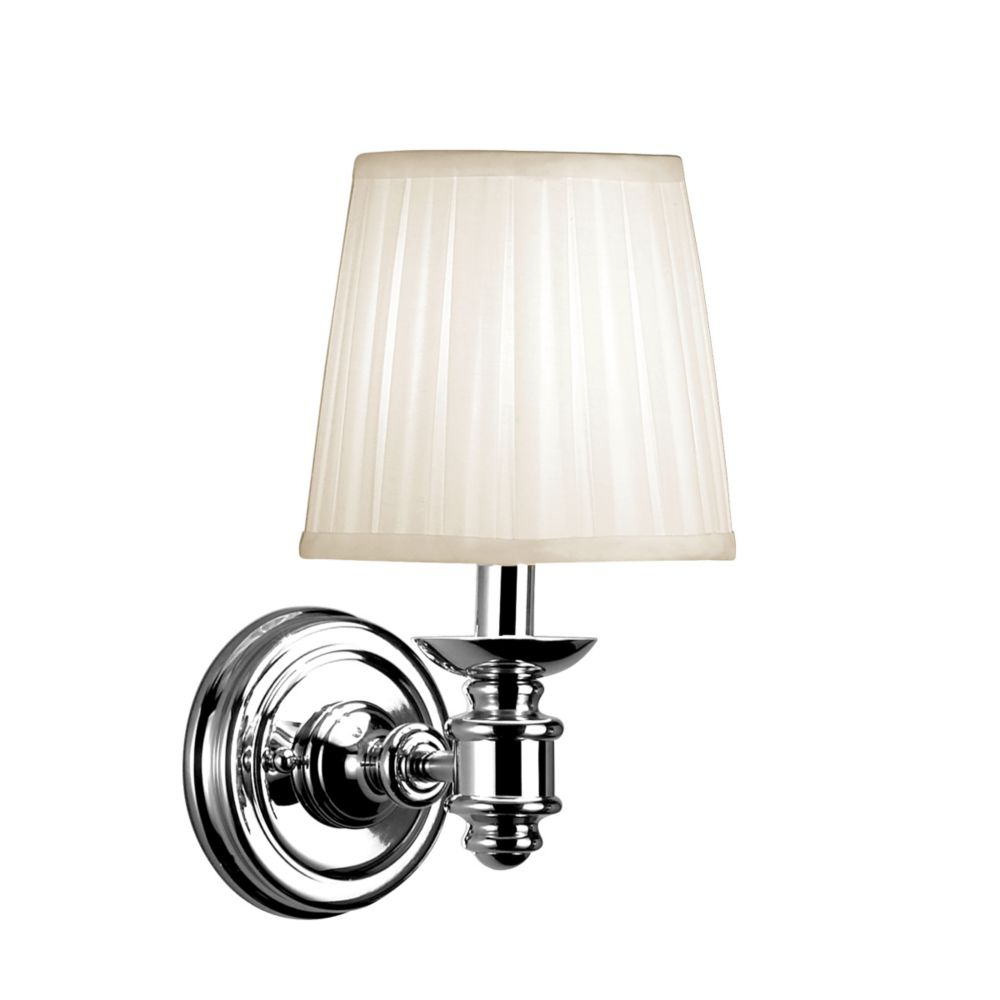 Nadia Collection 1-Light Chrome Wall Sconce