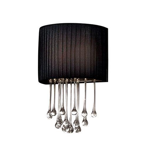 Eurofase Penchant Collection 1-Light Black Wall Sconce