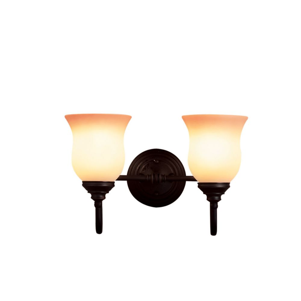 Eurofase Renfrew Collection 2-Light Oil-Rubbed Bronze Wall Sconce