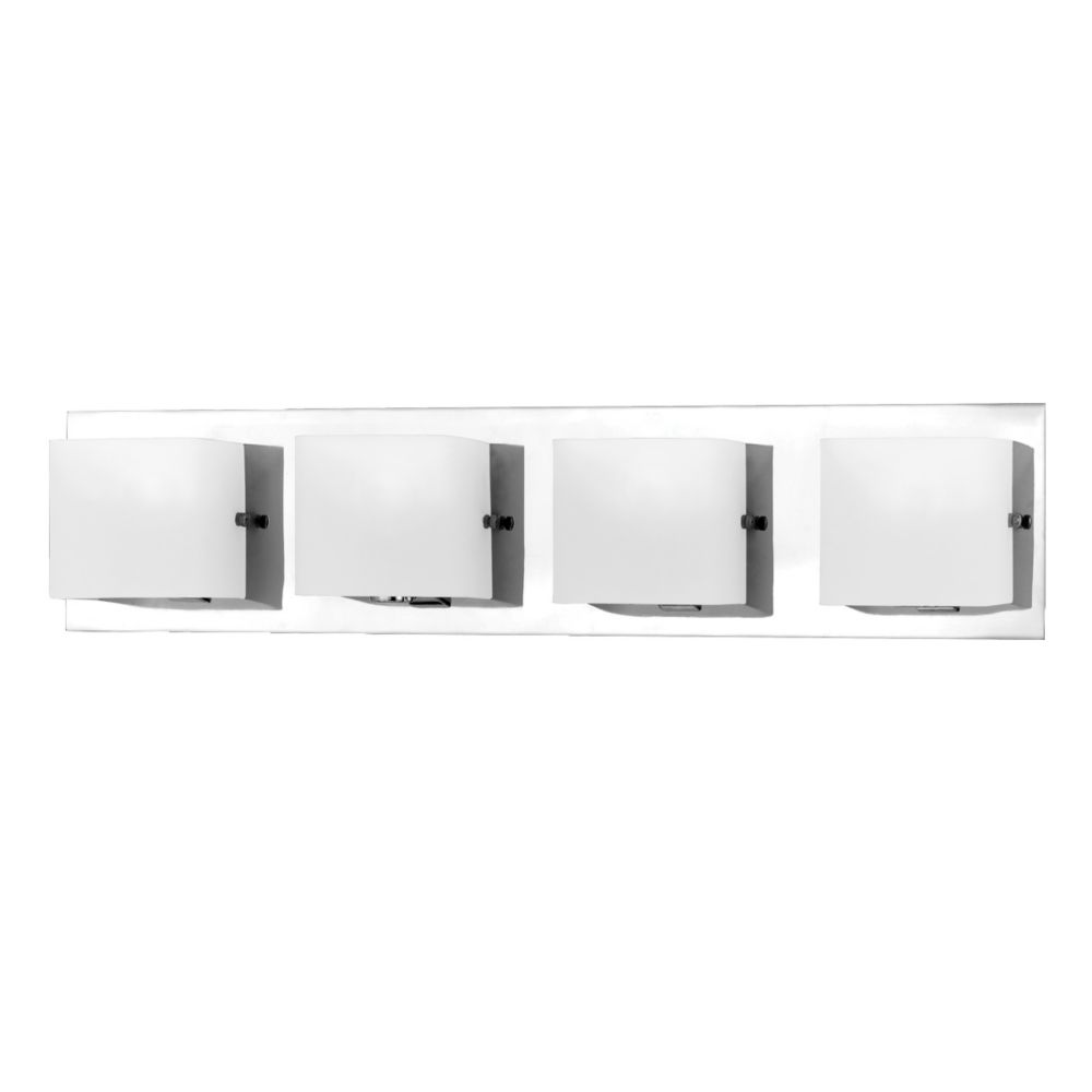 Eurofase Talo Collection 4 Light Chrome Bath Bar The Home Depot Canada