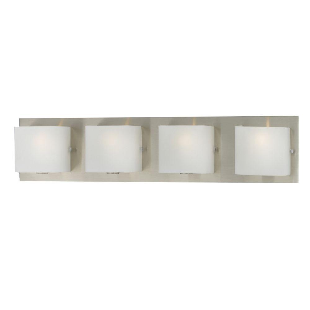 Eurofase Talo Collection 4-Light Satin Nickel Bath Bar