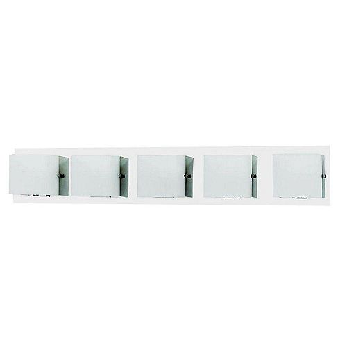 Eurofase Talo Collection 5-Light Chrome Bath Bar