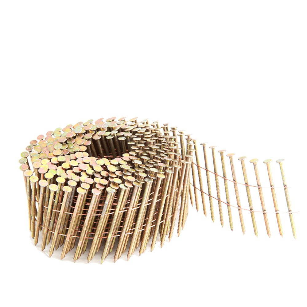 .92 Inch 2 Inch Coil Siding Nail - Wire Collated Ring Shank Galv 3.6K Color Box