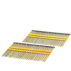 3 Inch Coated - Plastic Collated -Smooth Shank -Brite .131 Inch 2K Color Box
