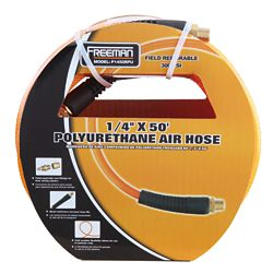 Freeman 1/4-inch x 50 ft. Polyurethane Air Hose with Field Repairable Ends