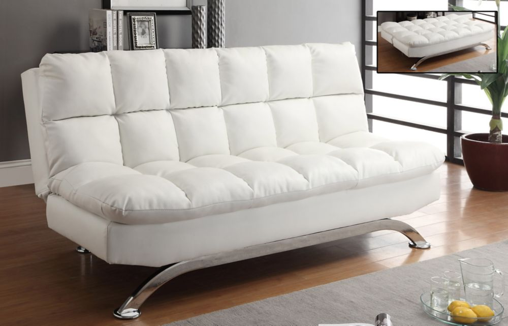 Loft klik klak sofa white 108 728wt in canada for Sofa bed canada