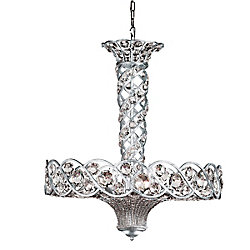 Catara Collection 12-Light Silver Large Pendant