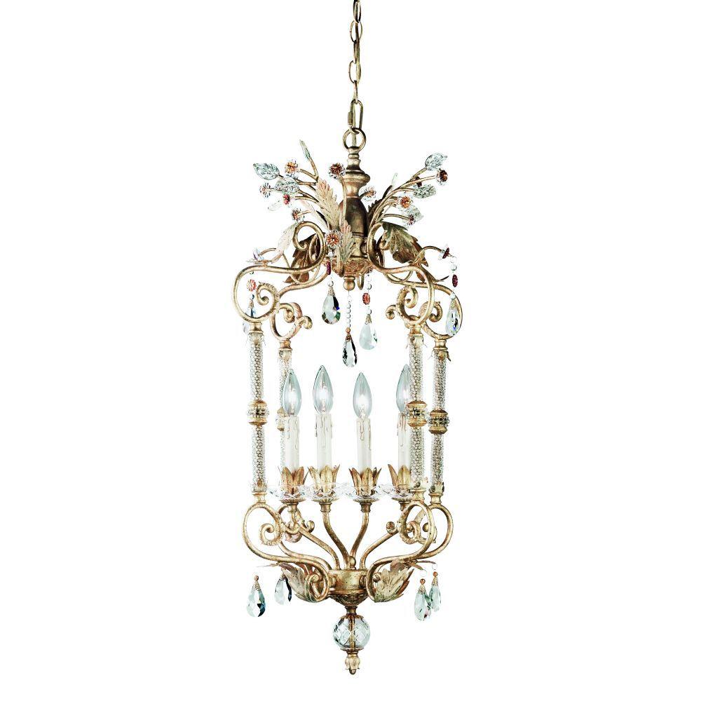 Dahlia Collection 4-Light Antique Gold Large Pendant 14452-017 Canada Discount